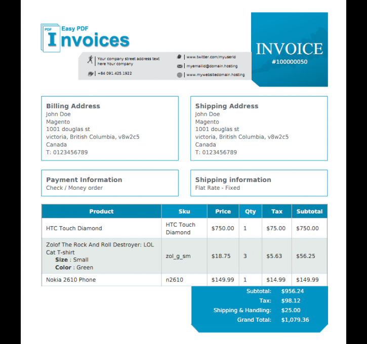Easy Pdf Invoice Magento Extension By Vnecoms Magecloud