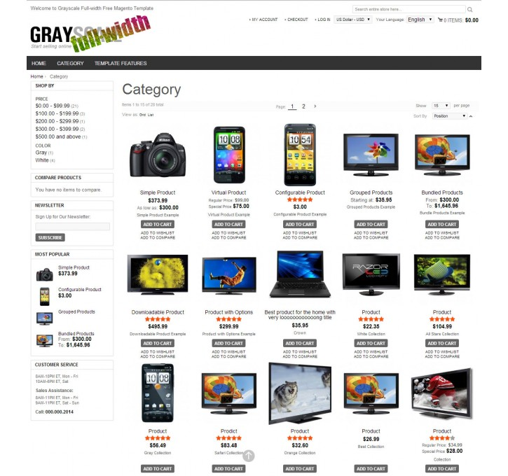 grayscale full width responsive magento extension by webandpeople