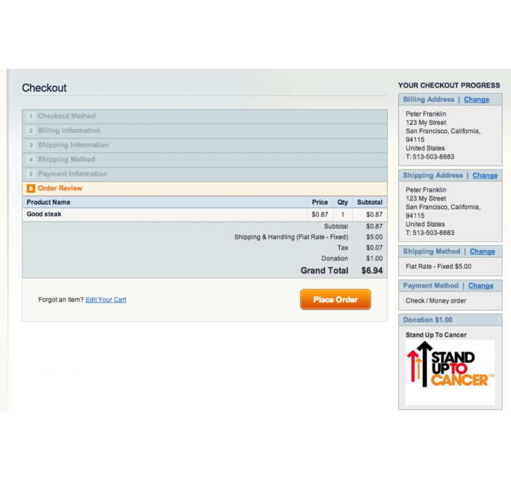 Charity Checkout Magento Extension by GoodLabs | MageCloud net