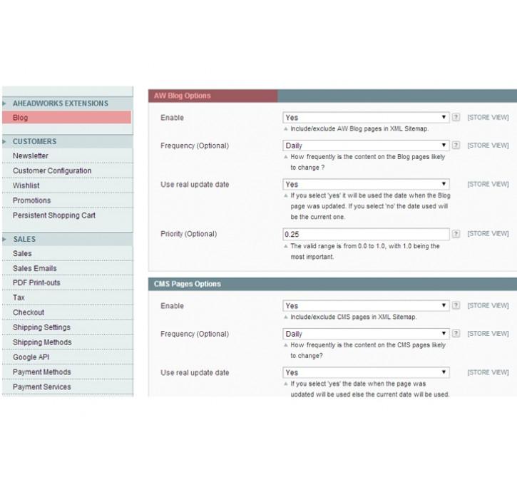 xml sitemap for aw blog plugin for cb xml plus magento extension