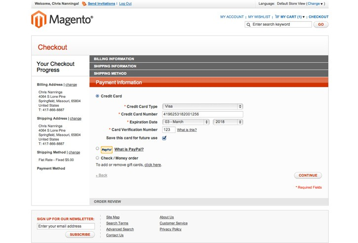 Paypal Credit Card Tokenization Extension Magento Extension By