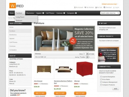 HelloWired Free Theme Magento Extension by HelloThemes | MageCloud.net
