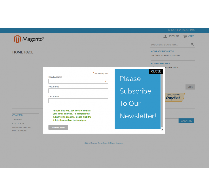 Mailchimp Email Subscription Popup Magento Extension by ...